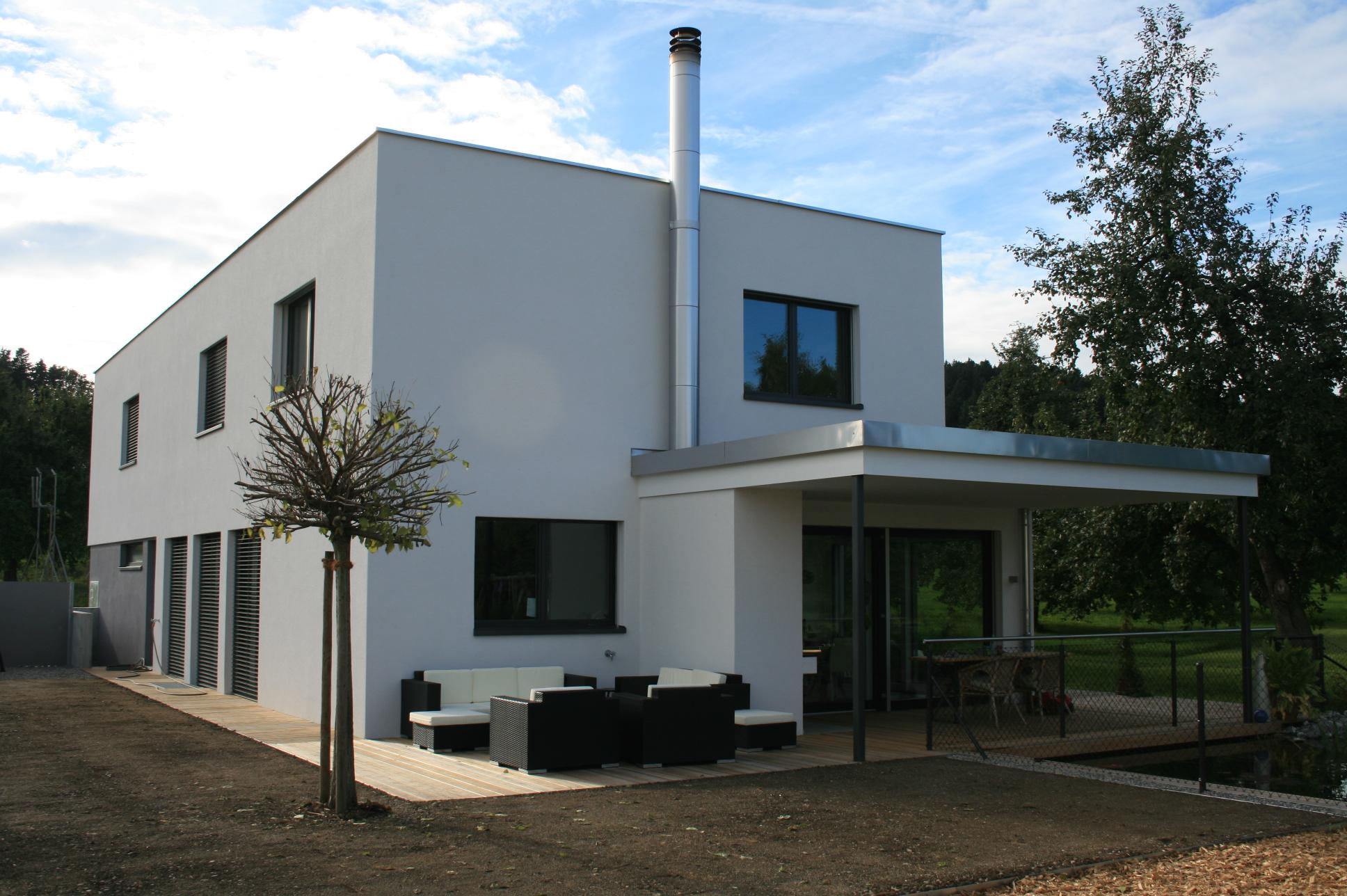 Neubau EFH mit Büroteil, Minergie, gebaut nach Vastu ...