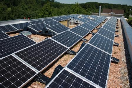 Fotovoltaikanlage auf unserem Wohn- und Bürohaus