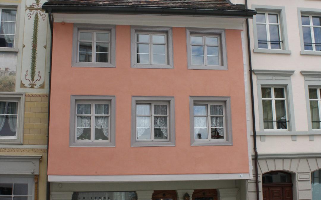 Fassadenrenovation, Altstadtliegenschaft Wil